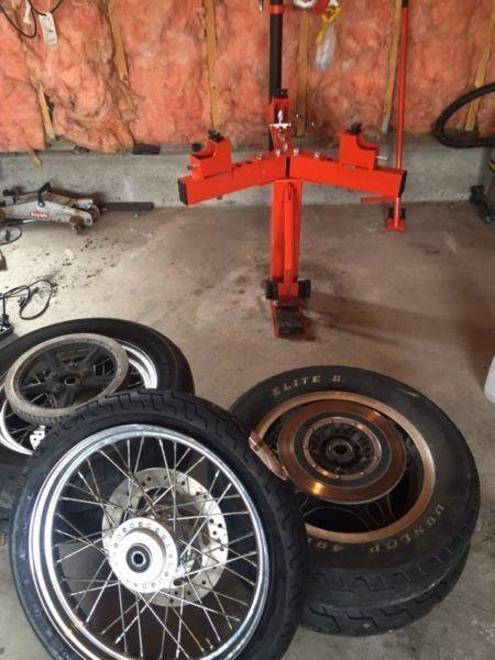 Any Motorcycle tire wheel installation Harley victory Indian