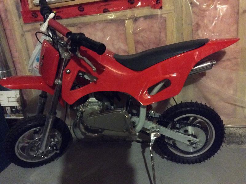 Mini Dirt Pit Bike 49cc Red 2-Stroke Gas Motorized