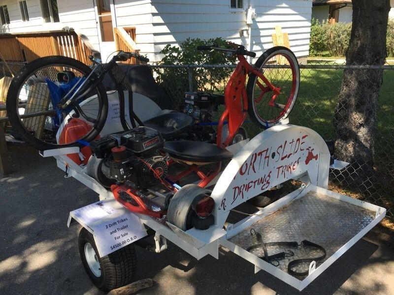 Drift Trikes and Trailer custom made WOW