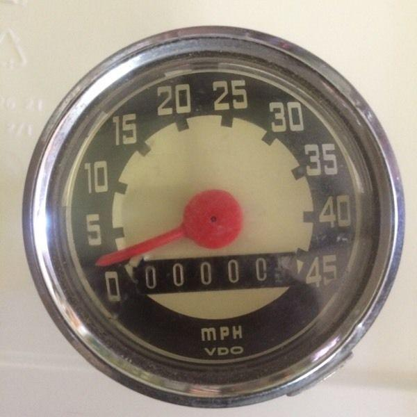 NOS VDO European Speedometer