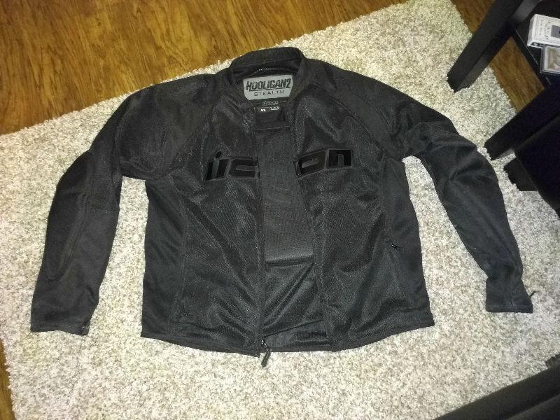 TRADE: Size XL Icon hooligan 2 stealth motorcycle jacket. Black