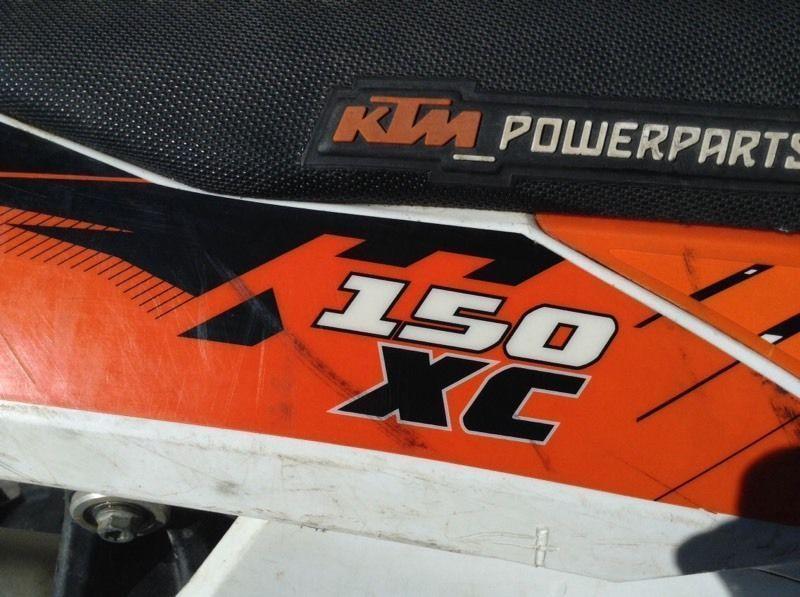 2011 KTM 150 xc 2 stroke dirt bike for sale
