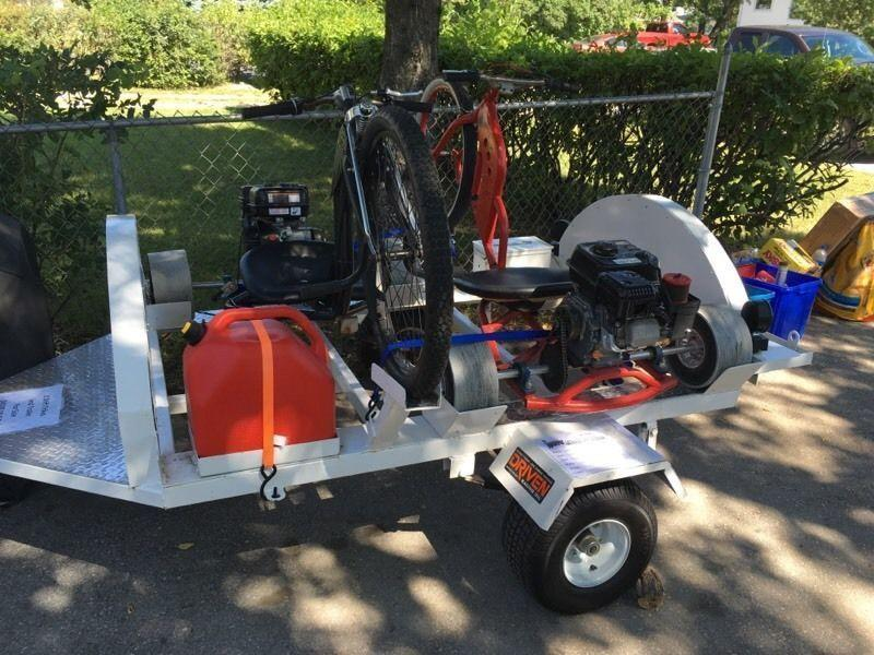 Two 6.5 hp DRIFT TRIKES and TRAILER 70mph