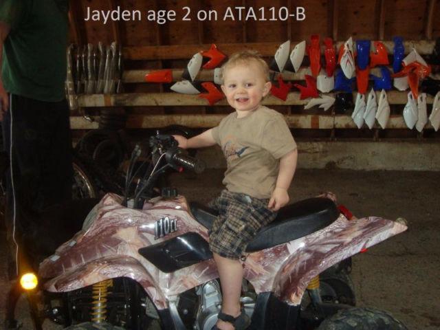 KIDS ATV 110CC SALE STARTS NOW 1-905-665-0305