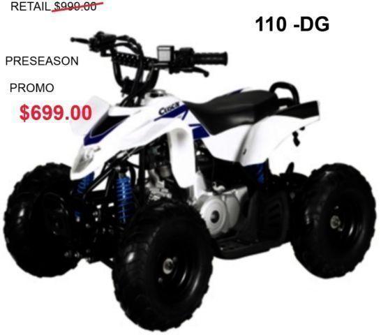 KIDS 110CC ATV sale starts now 1-905-665-0305
