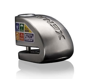 XX6 Xena DISC LOCK with 120dB Alarm & Shock/Motion Sensor