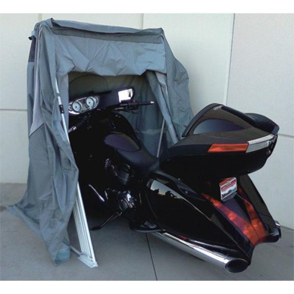 Retractable Motorcycle covers and shelter. Quick Easy and Secure