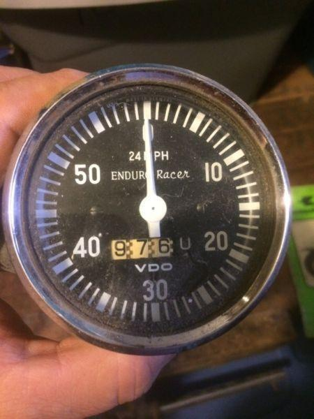 Vintage VDO Enduro Racer Speedometer