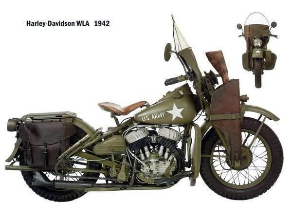 Small hoard of 1940s Harley WL, WLA and WLC parts