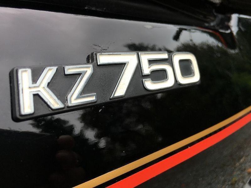 1977 Kawasaki KZ750 twin REDUCED
