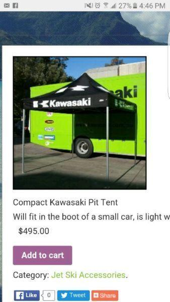 Kawasaki pit tent